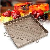 11''GoldenSquareKeukenKoelrek Brood Houder Stand Bakken Cake Pan Tools