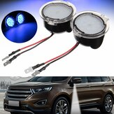 Pair White LED Side View Mirror Puddle Light for Ford Edge Mondeo Focus C-Max Kuga S-Max