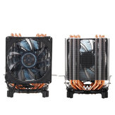 3Pin Six Copper Heat Pipes Blue Backlit CPU Cooling Fan for  Intel 775 1150 1151 AMD