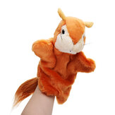 27CM Stuffed Animal Squirrel Fairy Tales Hand Puppet Classic Children Figure Toys Plush Animal