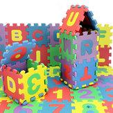 72pcs crianças de bebê mini alguma vez esteira de número de cartas de alfabeto de espuma 3as quebra-cabeças brinquedos educativos