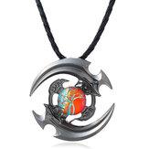 Unisex Fidget Spinner Halskette Twine Anhänger Halskette für Männer Damen