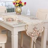 Quatro tamanhos de mesa bordados de flores clássico runnr casamento mat mesa decoração de festa em casa