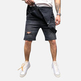 Men Denim Slim Fit  Short Jumpsuit