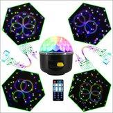 LUSTREON 10W RGB LED Party Disco Crystal Magic Ball Effect Music Stage Light Sound-activated Remote