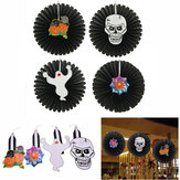 Halloween Paper Fan Wall Hangende Decoratie Party Home Decor Gifts Ghost Pumpkin