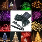 Impermeabile solare Powered 12M 100LED String Fairy Light Garden Party Decor natalizio