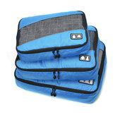 3Pcs Storage Borsa Abbigliamento da viaggio impermeabile da viaggio Organizzatore Articoli da toeletta Borsa