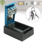 Boîte de rangement de clés à 4 chiffres bleue en alliage d'aluminium, suspendue à un clavier, à combinaison de codes, avec verrouillage des clés de stockage