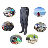 Unisex Waist Wading Pants Boots Overalls Waterproof Hunting Fishing Pants For Catching Fish