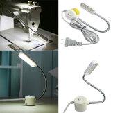 1w 220v швейная машина 12 LED гусиная шея света магнитное основание с нами подключите
