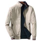Revestimentodebolsodezíperde algodão de logotipo de bordado de Mens Revsersible
