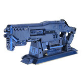 MU BGHN-1 3D DIY Metalen Gun Puzzle Blauw Model Collectie Speelgoed 100 * 35 * 15mm