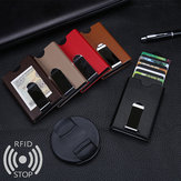 Men RFID Antimagnetic Automatic Pop up Aluminum Wallet Credit Card Holder