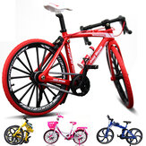 1:10 Diecast Bicycle Model Toys Bend Race Cycle Cross Mountain Bike Gift Decor Collectie