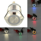 DC 12V 12mm 4-pin Momentary Switch Led Light Metaal drukknop Waterproof Switch