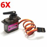 6X MG90S Metal Gear RC Micro Servo voor ZOHD Volantex Vliegtuig RC Helicopter Auto Boot Model