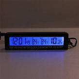 12V/24V In/Out Car Voltage Meter LCD Digital Clock Time Blue&Orange Backlight