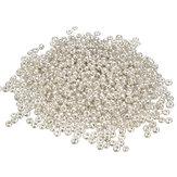 500 Pcs 2mm Argent Verre Spacer Perles Perles Perles DIY Bijoux Accessoires