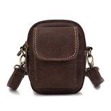 Homens das mulheres sacos de ombro retros do bolso do zipper da parte dianteira o crossbody do vintage sacos da cintura sacos do telefone 5.5