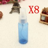 8Pcs 30ML Blue Empty Transparent Plastic Water Spray Bottle Atomizer Container Travel