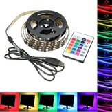 1M 2M 3M 4M USB 5V 5050 60SMD / M RGB LED Stripverlichting TV Back Lighting Kit + 24Key Remote