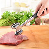 KCASA KC-MH01 Heavy Duty Stainless Steel Meat Tenderizer Hammer Mallet With Non-slip Long Handle