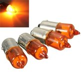 4 stks 12 V 23 w Motorfiets Turn Singal Indicator Lamp BA9S Base Mini Amber Halogeen Verlichting