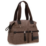 Ekphero Vrouwen Mannen Canvas Multi Pocket Handtassen Casual Pillow Shoulder Crossbody Bags