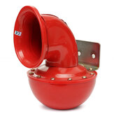 12V Metal Red Electric Bull Horn Super Ruidoso Raging Sound w / Pull Lever Car Truck