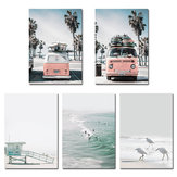 Sea Beach Landscape Nordic Poster Wall Art Canvas Prints Home Decorations Unframe