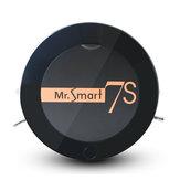 Mr.Smart7S Robot Aspirateur Intelligent Ménage Automatique 1200Pa Aspirateur Nettoyage 400ml Capacité Boîte À Poussière
