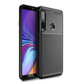 Bakeey Protective Case For Samsung Galaxy A9 2018 Carbon Fiber Fingerprint Resistant Soft TPU Back Cover