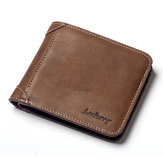 Men Vintage Short Muiti-Card Slots Trifold Wallet