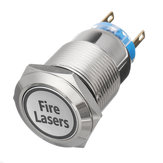 12V 19mm 5 Pin Zilveren Brand Lasers Metalen Push Button Switch LED Light Momentary