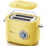 BEAR DSL-A02G1 2 Slice Wide Slot Stainless Steel Toaster Bread Kitchen Home Sandwich Maker Bread Machine