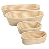 Long Oval Banneton Bread Dough Proofing Rattan Brotform Storage Baskets Loaf Proving Rising 4 Sizes