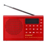 KK-9 Portable Digital FM Radio TF Card U Disk Music Player USB Rechargeable Speaker
