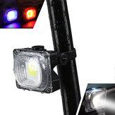 XANES TL05 500LM COB Bead White / Blue / Red Light 3 режима Водонепроницаемы USB аккумуляторная батарея для заднего фонаря