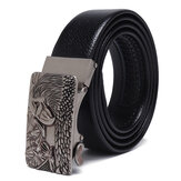 120CM 125CM Mens Business Two-Layer Leather Waist Belts