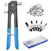 Pop Riveter Gun Rivet Hand Tool Set Kit with 100Pcs Nut Inserts + 5Pcs Mandrels & Box