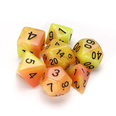 7 sztuk Luminous Polyhedral Dices Multisided Dices Kostki z kostką do gry RPG