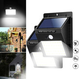 40 LED solare Power Light PIR Sensore di movimento Sicurezza Outdoor Garden Waterproof Wall lampada