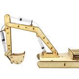 DIY VAPOR De Madeira Hydraumatic Grab Digger RC Robot Toy Kit Educativo