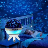1 W Romântico LED Girando Oceano Projetor Night Light Para Kid Nursery Humor Sono Lâmpada Decorativa