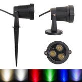 6W LED Sel Işık Spot Işık Ile Peyzaj Için Bahçe IP65 AC 85-265 V