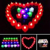 1pcs batterie conduit lumière bougie flameless coloré électronique bougie partie mariage décor