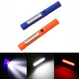 5W Portable Mini LED COB Inspection Work Pen Lumière Batterie Powered Aimant Camping lampe de Poche Torche
