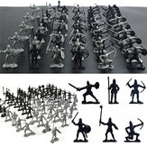 28PCS Soldier Knight Horse Figures & Accessories Diecast Model For Kids Christmas Gift Toys