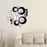 Honana DX-X6 Creative 3D Acrílico Mirror Wall Sticker Quartz Relógios Assista Grande Home Decor